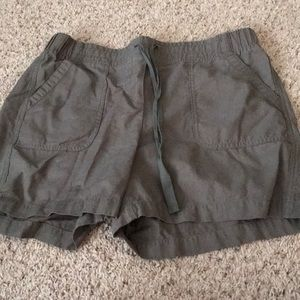 Talbots army green shorts